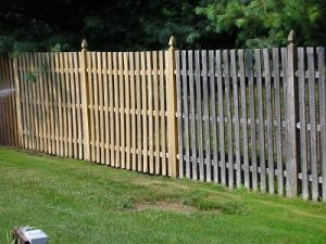 Garden fence cleaning